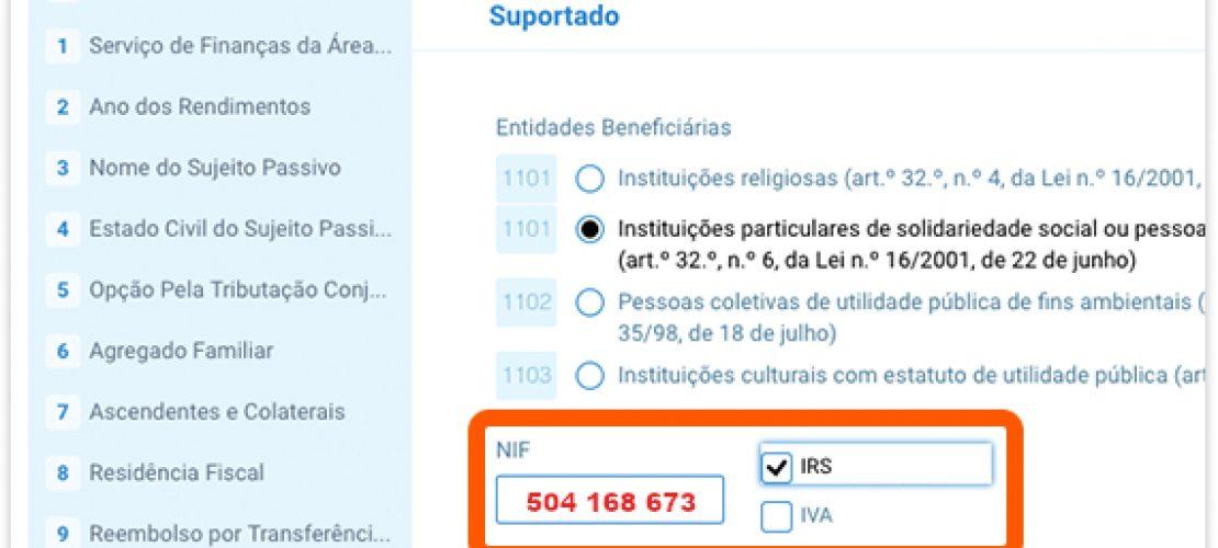 Consignação IRS a favor da CASA DO JUIZ – APELO 2019
