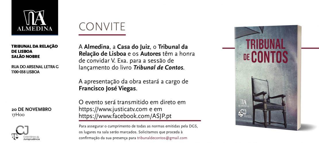"""Sessão de lançamento do livro """"Tribunal de Contos"""" (Lisboa, 20/11/2020)"""